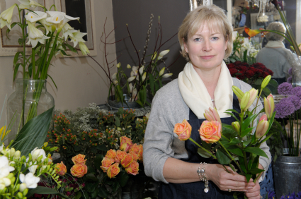 florist in flower shop business