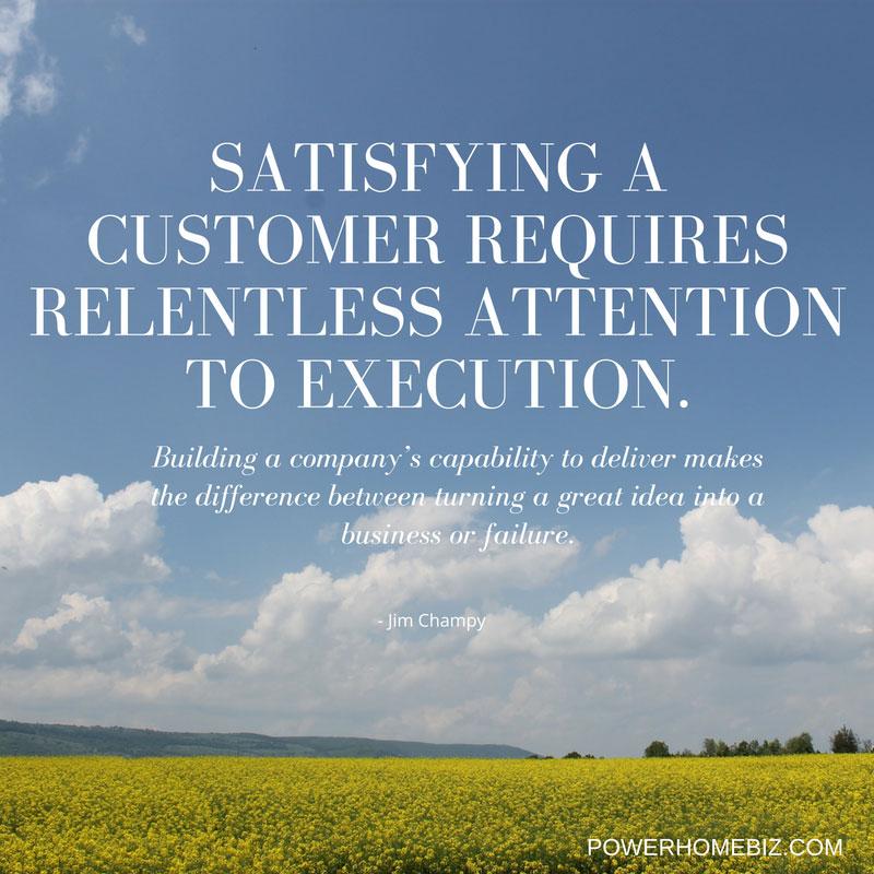 quote on satisfying customerwe