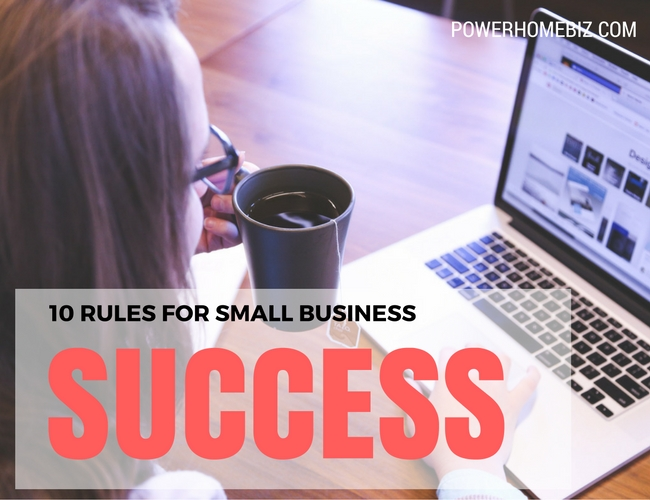 10 rules for small business success