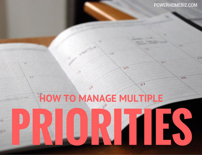 How to manage multiple priorities