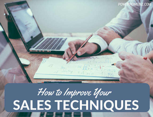 how to improve sales techniques