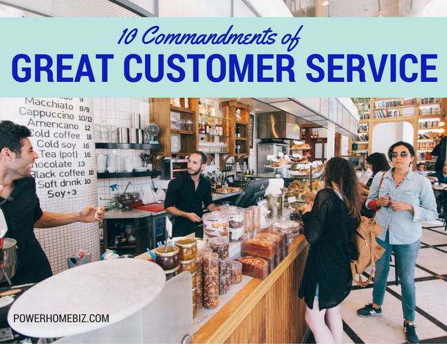 10 Commandments of Great Customer Service