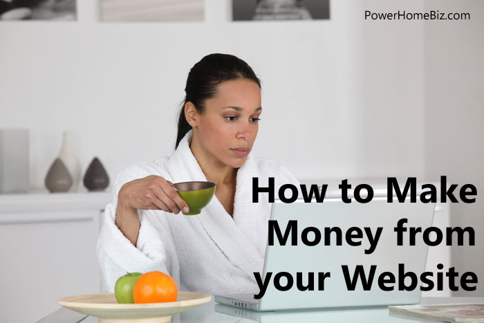 how to make money from website