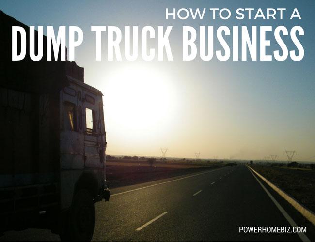 Running a dump truck business