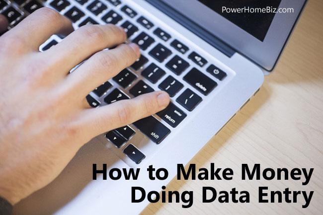make money data entry