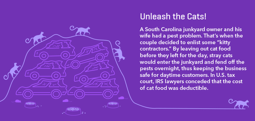 tax deduction cat food
