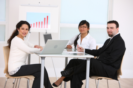 business people sitting in a meeting