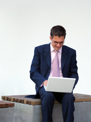 businessman laptop