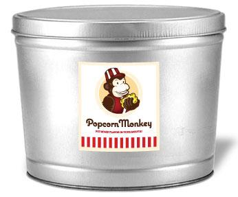 Popcorn Monkey tin