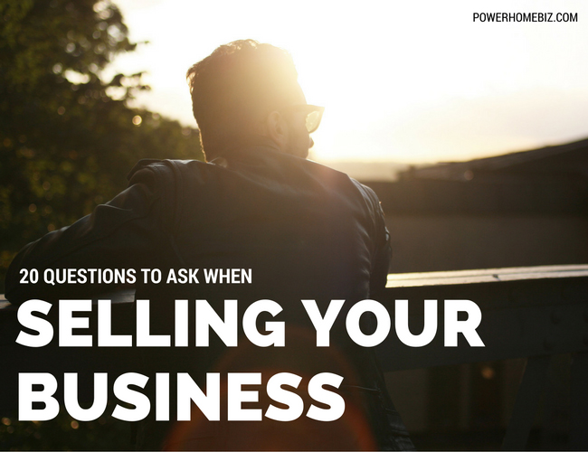 20 Questions to Ask When Selling Your Business