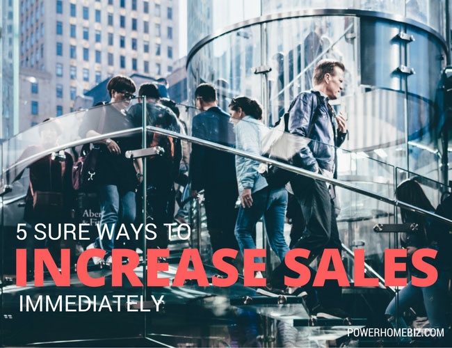 5 sure ways to increase sales