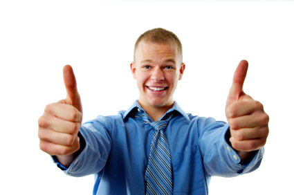 guy thumbs up