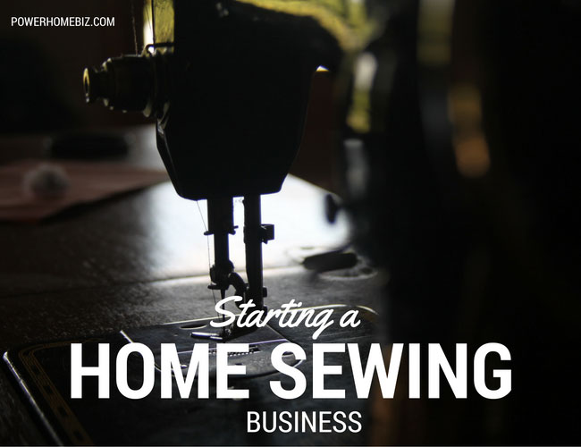 starting a sewing business from home