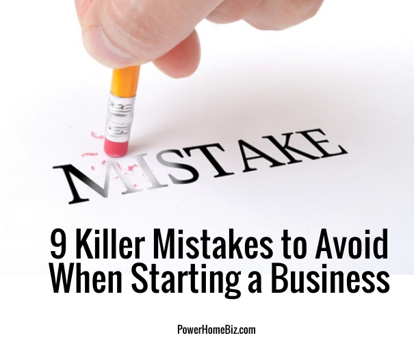 mistakes starting a business