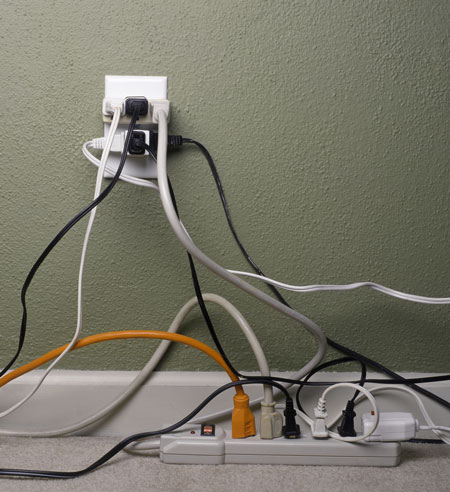 home office wiring and cords