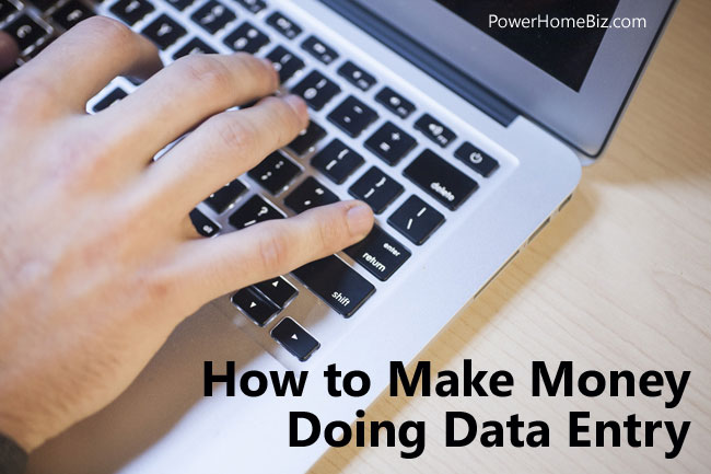 make money data entry