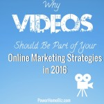 why videos should be part of online marketing strategies