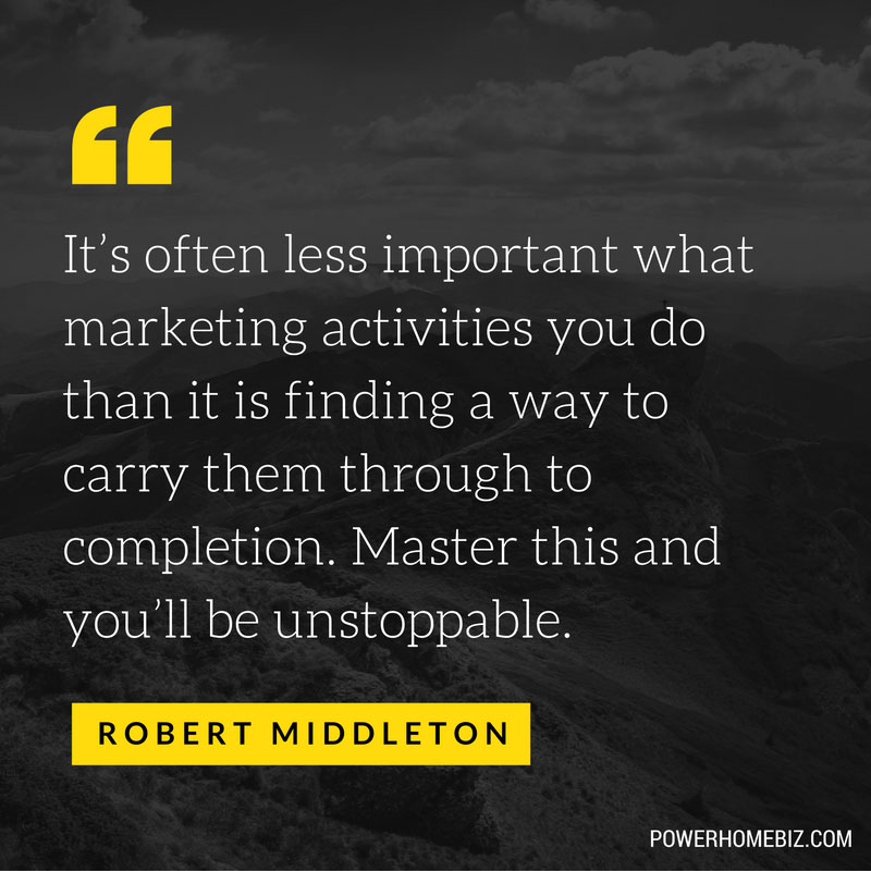 marketing activities to completion