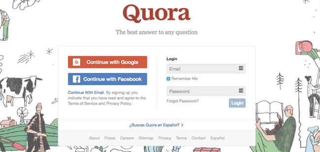 Quora is a Q&A site