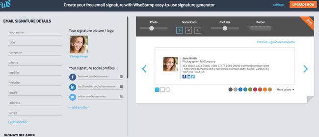 WiseStamp Claim your FREE email signature