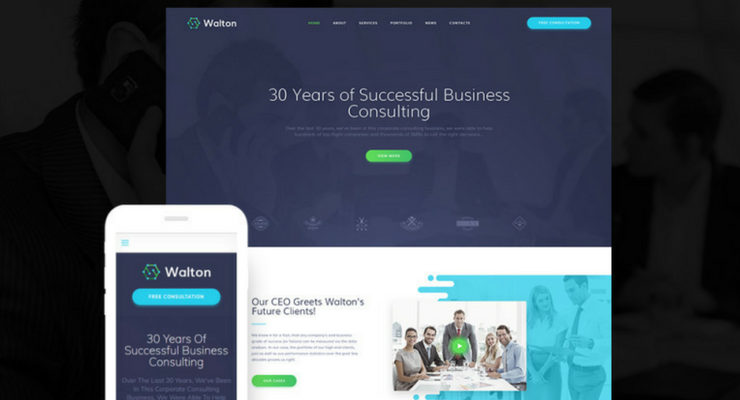 wordpress finance theme -walton