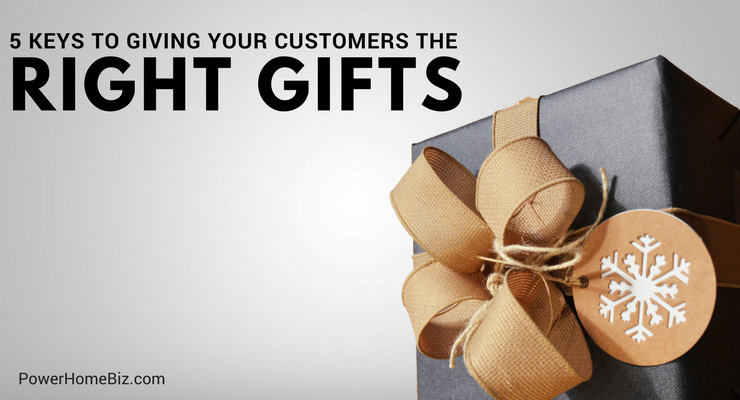 Keys to Giving Your Customers the Right Gifts