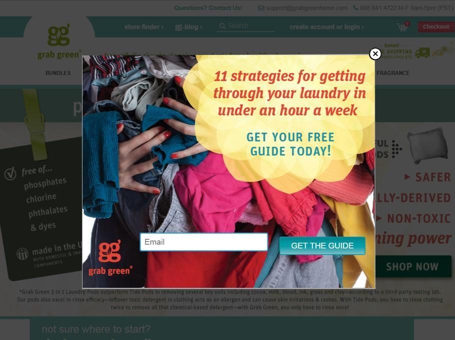 Grab Green email marketing