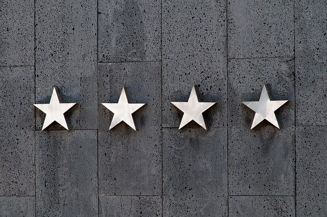 four stars on a wall