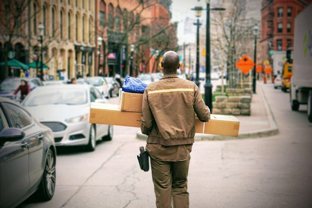 shipping in ecommerce UPS truck driver