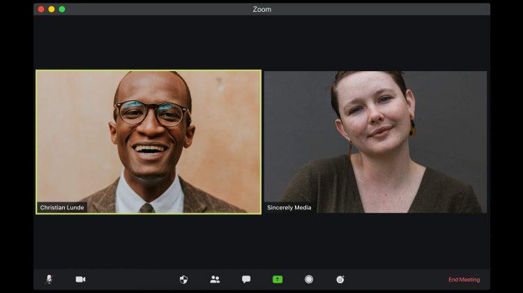 remote work zoom meeting