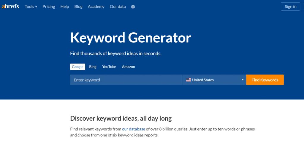 ahref keyword tool