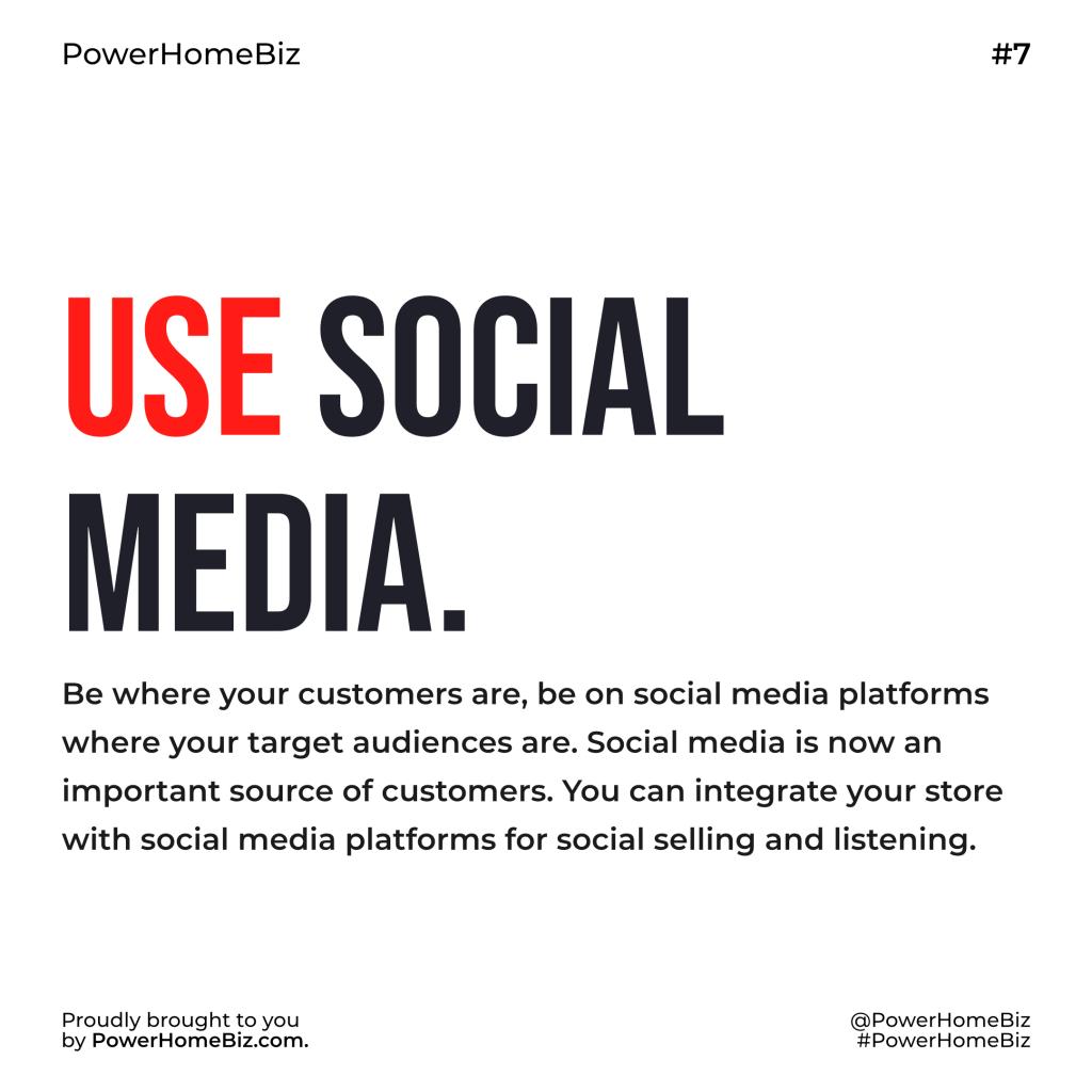 social media sell more online