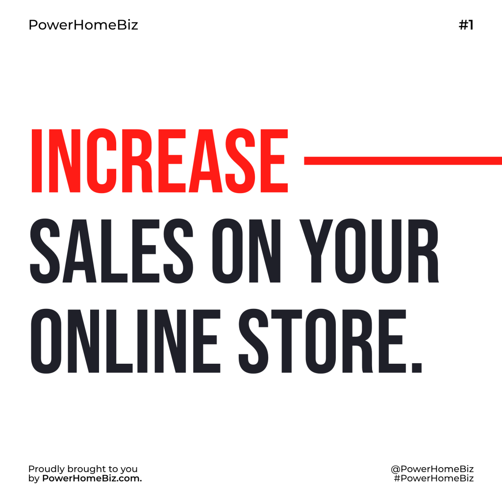 tips on how to increase sales of your online store